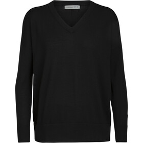 Icebreaker Shearer V-Neck Sweater Women, black
